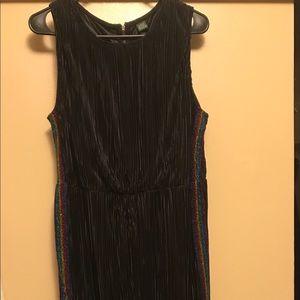 jumpsuit rainbow glitter stripes down the sides